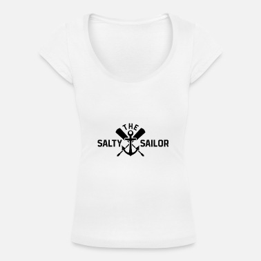 Sailor Salty sailor sailor sea bear sailing ship gift - Women's Scoop-Neck T-Shirt