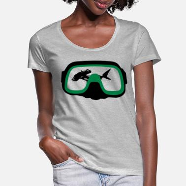 Diving Mask diving Mask - Women's Scoop-Neck T-Shirt