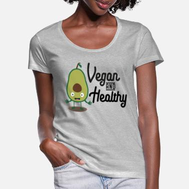 Bless You Vegan and healthy avocado S1sts - Women's Scoop-Neck T-Shirt