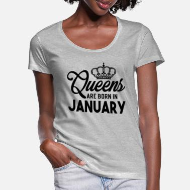 Born In January Queens Are Born In January - Women's Scoop-Neck T-Shirt