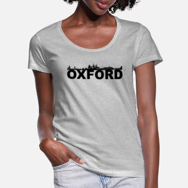Oxfordshire Oxford England skyline gift idea UK - Women's Scoop-Neck T-Shirt