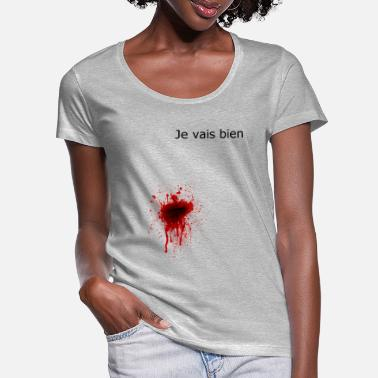 Wing blood gore horror murder - Women's Scoop-Neck T-Shirt