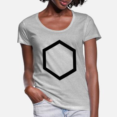 Hexagon hexagon - Women's Scoop-Neck T-Shirt