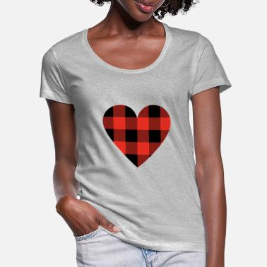 Lumber lumber heart - Women's Scoop-Neck T-Shirt