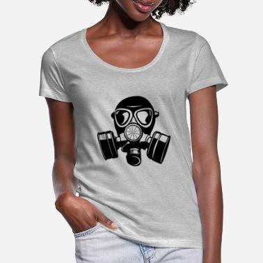Gas Mask gas mask gas mask Aa - Women's Scoop-Neck T-Shirt