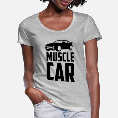 Muscle Car muscle car - Women's Scoop-Neck T-Shirt