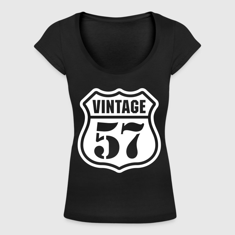 Vintage 57 Baby Long Sleeve Shirts - Women's Scoop Neck T-Shirt