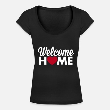 Welcome Home Welcome Home heart T-Shirts - Women's Scoop Neck T-Shirt