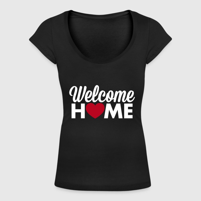 Welcome Home heart T-Shirts - Women's Scoop Neck T-Shirt