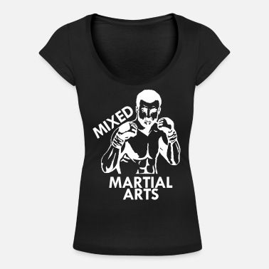 Mixed Martial Arts Mixed Martial Arts - T-skjorte med rund-utsnitt for kvinner