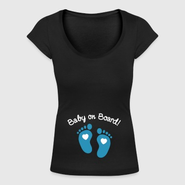 Baby On Board baby on board - T-shirt scollata donna