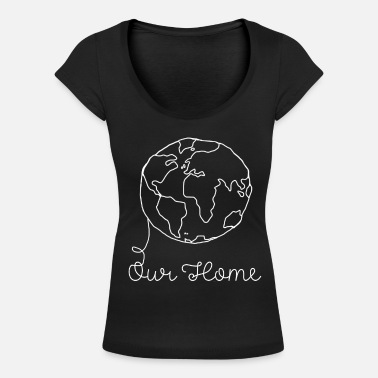 Planet Earth planet Earth - Women's Scoop-Neck T-Shirt