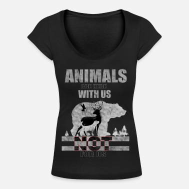 Tierversuche Animals are here with us - Frauen T-Shirt mit U-Ausschnitt