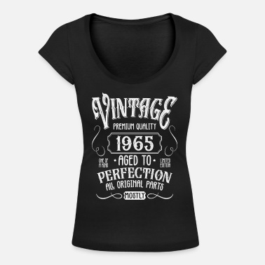 1965 Birthday born in 1965 - Women's Scoop-Neck T-Shirt