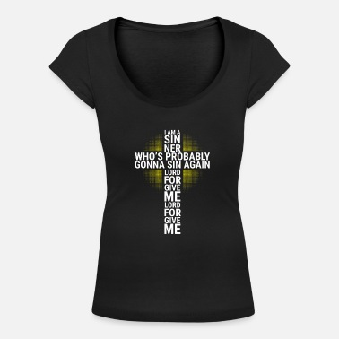 Prayer Lord Forgive Me Forgiveness - Women's Scoop-Neck T-Shirt