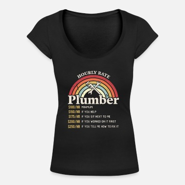 Labour Day Hourly Rate Plumber Labour Day Handyman - Women's Scoop-Neck T-Shirt