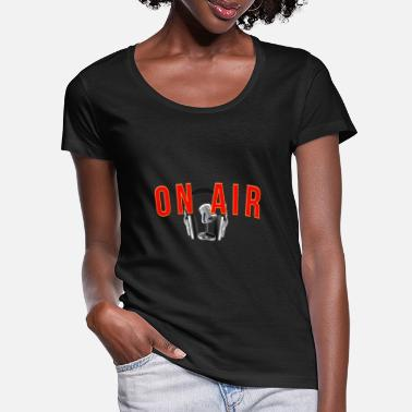 Radio On air radio fm - Women's Scoop-Neck T-Shirt