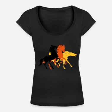 3 Chevaux 3 Chevaux - T-shirt col rond profond Femme