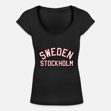 College Style Sweden Stockholm College Style - Women's Scoop-Neck T-Shirt