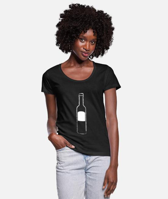 Proud T-Shirts - ouzo - Women's Scoop-Neck T-Shirt black