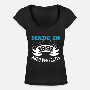 Aged Gjord 1991 Aged Perfectly - T-shirt med u-ringning dam