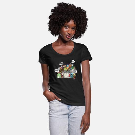 Boring T-Shirts - Concentration - Women's Scoop-Neck T-Shirt black