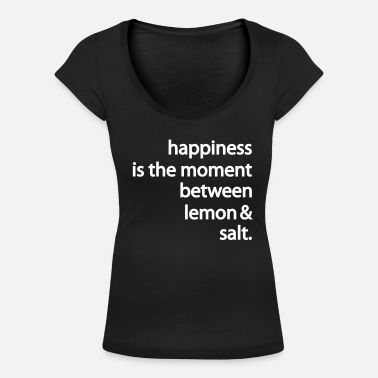 Happiness happiness - T-shirt med u-ringning dam