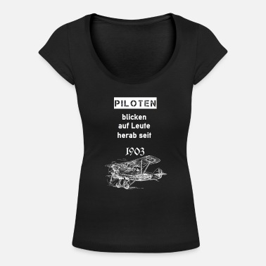 1903 Pilots look down on people since 1903 - Women's Scoop-Neck T-Shirt