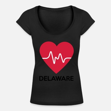 Delaware Coeur Delaware - T-shirt col rond profond Femme
