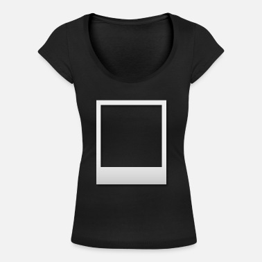 Polaroid frame with shadow - Women's Scoop-Neck T-Shirt