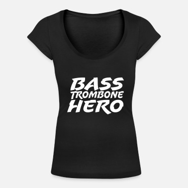 Trombone Bass Trombone Hero - Women's Scoop-Neck T-Shirt