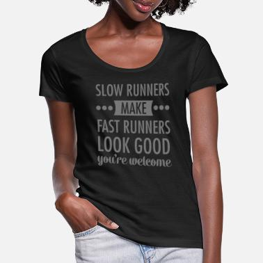 Slow Dance slow runners - Women's Scoop-Neck T-Shirt