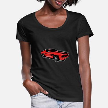 Spark Plug sports car - Women's Scoop-Neck T-Shirt