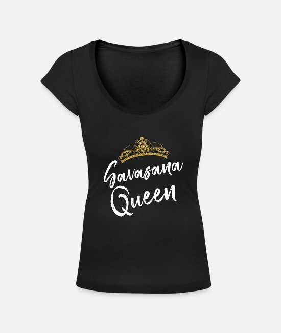 Zen T-shirts - SAVASANA QUEEN Yoga Quotes - T-shirt med u-ringning dam svart