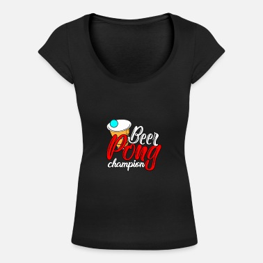 Beer Pong Beer Pong - Women's Scoop-Neck T-Shirt