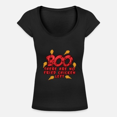 Hipster BOO - There are no Fried Chickens Left - Halloween - Frauen T-Shirt mit U-Ausschnitt