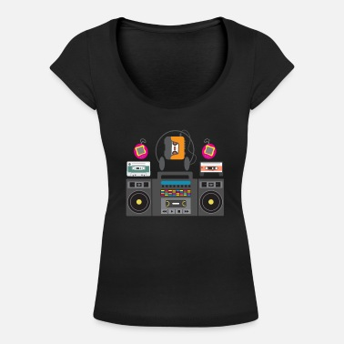 90s party outfit - old electrical appliances. - Women's Scoop-Neck T-Shirt