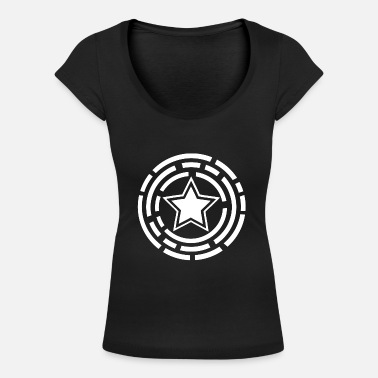 Design white star - Women's Scoop-Neck T-Shirt