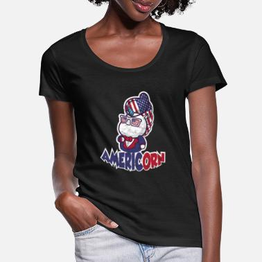 America America + Unicorn = Americon! - Women's Scoop-Neck T-Shirt