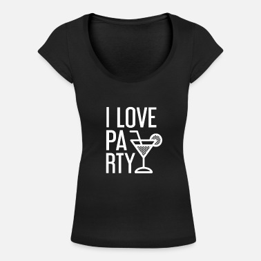 I Love Party I love PARTY - T-shirt col rond profond Femme