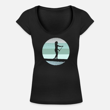 Stand Stand Up Paddling - Design - Vrouwen U-hals T-Shirt