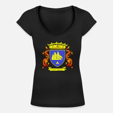 Louis Tomlinson ROYAL BLUE NAVY - Women's Scoop-Neck T-Shirt