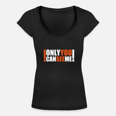 Heaven only you can see me - T-shirt med u-ringning dam