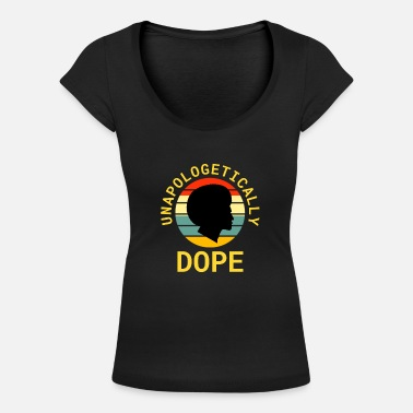 Anti Unapologetically Black History Month Gift Mens Afr - Women's Scoop-Neck T-Shirt