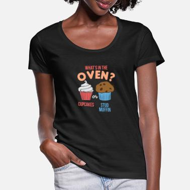 Oven What's in the oven - Women's Scoop-Neck T-Shirt