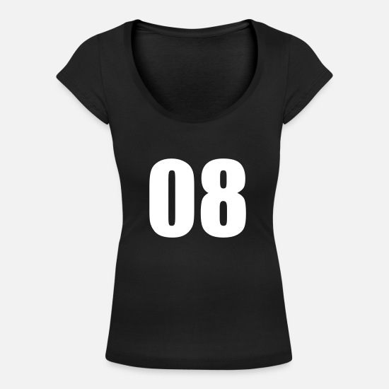 Birthday T-Shirts - Number Eight - Women's Scoop-Neck T-Shirt black