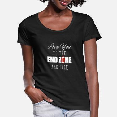 College Football Love You To The End Zone And Back For Sport - Vrouwen U-hals T-Shirt
