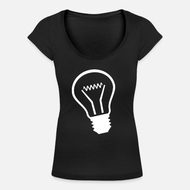 Lightbulb - Women's Scoop-Neck T-Shirt