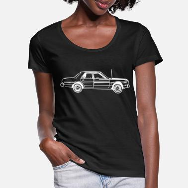Antenna Long car with an antenna - Women's Scoop-Neck T-Shirt