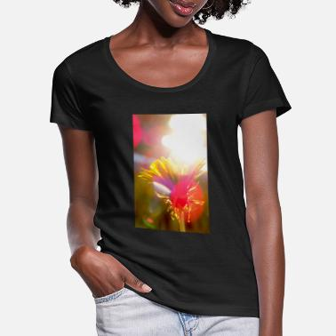 Sunny flower 2 - Women's Scoop-Neck T-Shirt